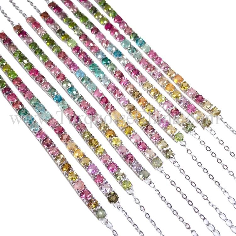 Exquisite Unique Pendant Brilliant Slippy Tourmaline Necklace Endearing Gift For Girl