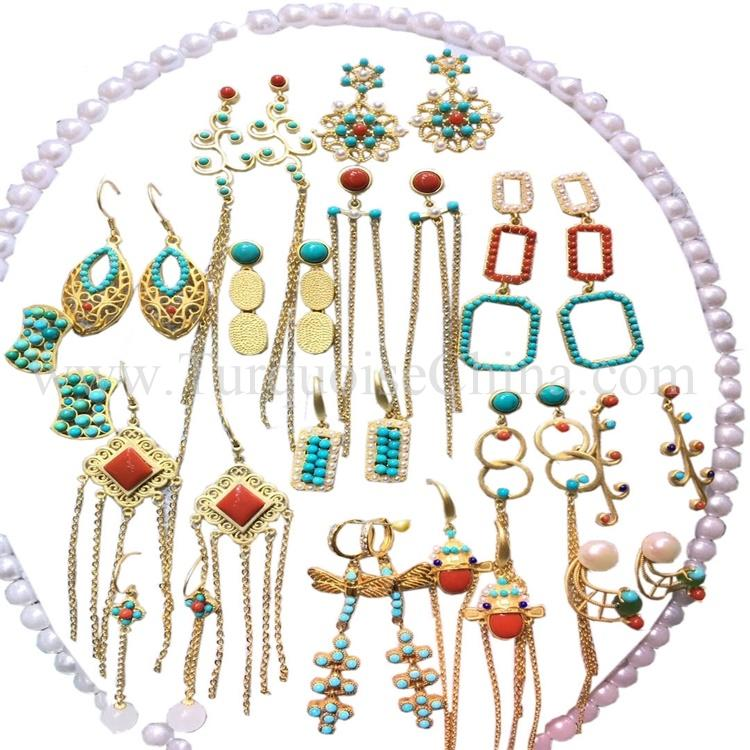 Elegant Various Mixed Jewelry Colorful Shapeless Turquosie For Women's Best Accessories