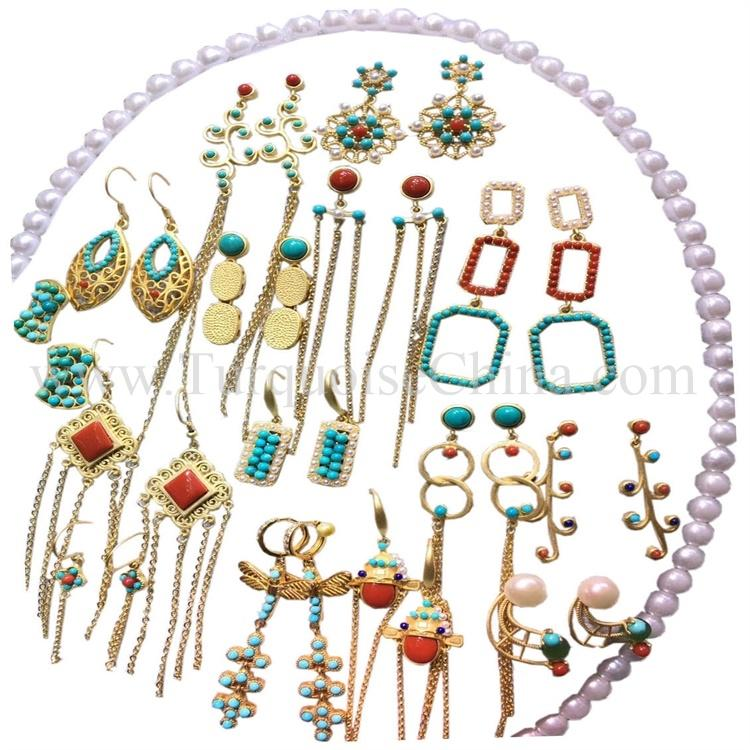 Natural Fashion Mixed Jewelry Lot Turquoise Multicolored High Class Turquoise For Wholesale