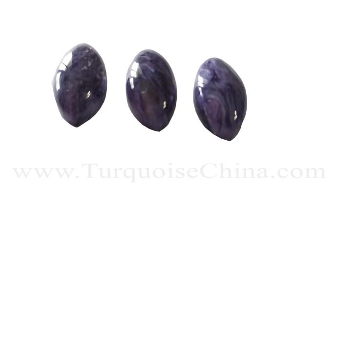 High Quality Natural Charoite Purple Crystal Water Drop Pendant 25x22x12mm AAA