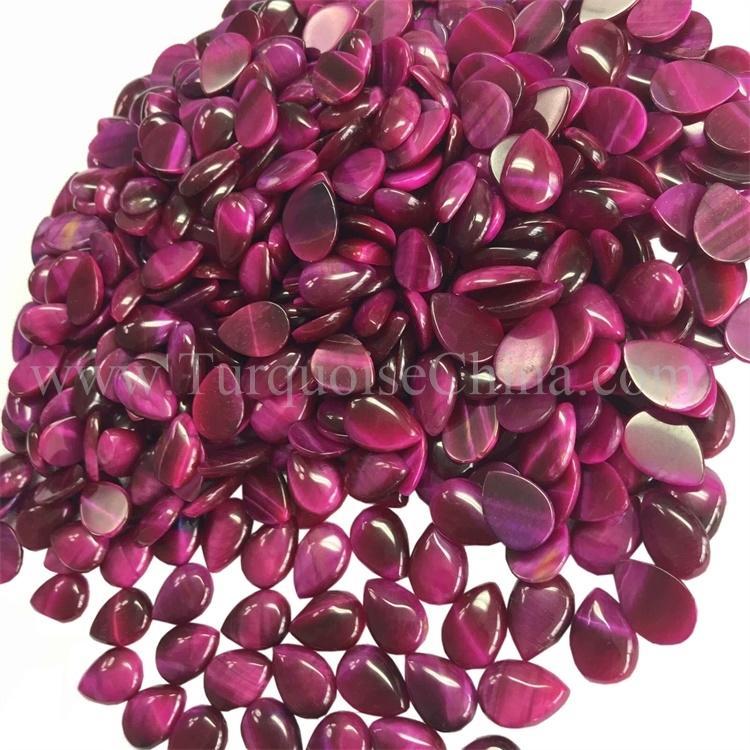 100% Natural Antique Red Tiger Eye  Pear Shape Cabochon Loose Gemstone
