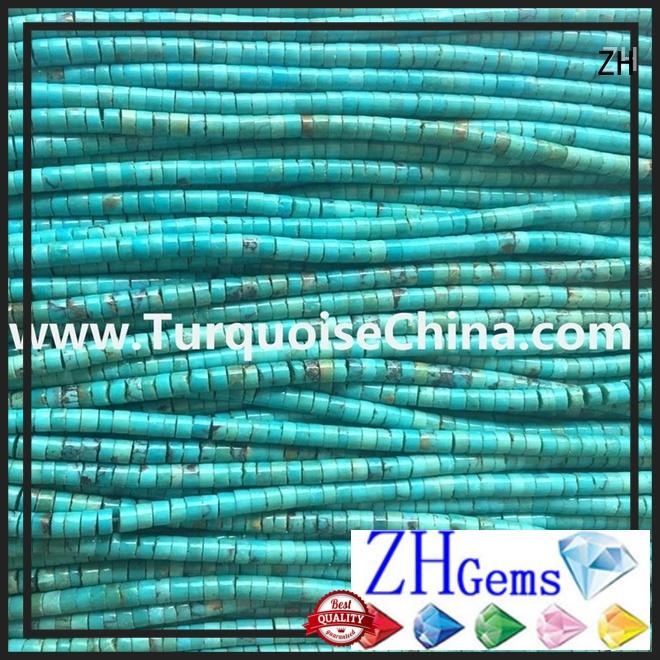 top quality turquoise heishi beads professional supplier for necklace