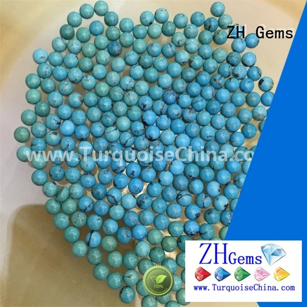 ZH Gems good quality turquoise round cabochon supplier for necklace