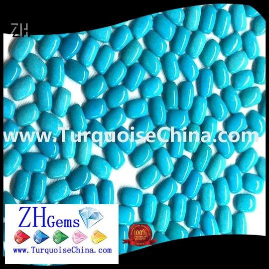 ZH natural sleeping beauty turquoise cabochons reliable supplier for jewelry making
