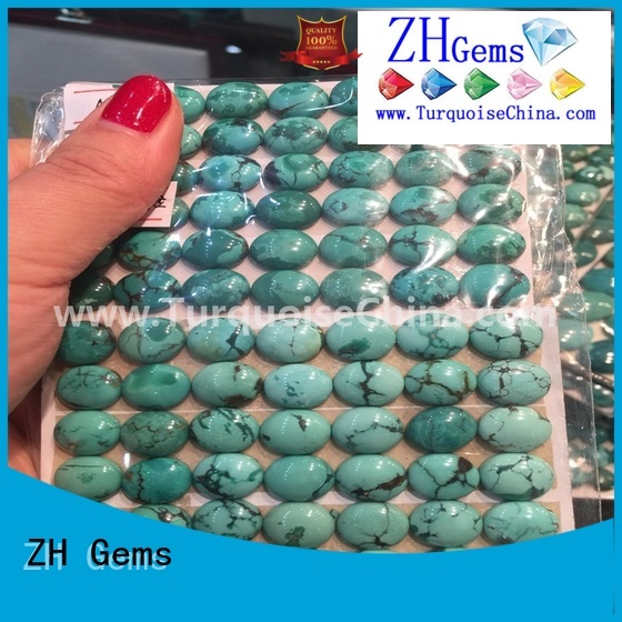 ZH Gems wholesale turquoise cabochons professional supplier for jewelry making