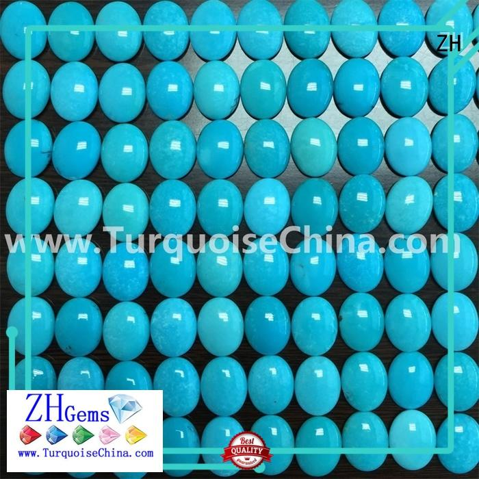 ZH excellent natural turquoise cabochon business for jewelry making