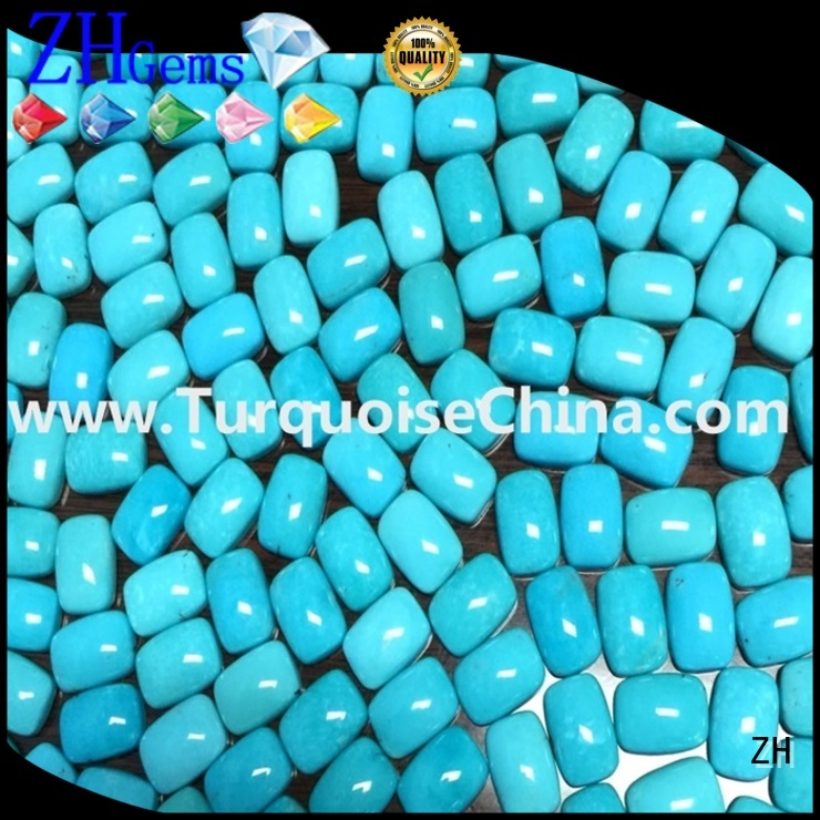 ZH good quality natural turquoise cabochon business for ring