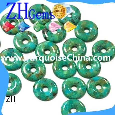 ZH perfect donut turquoise business for earings