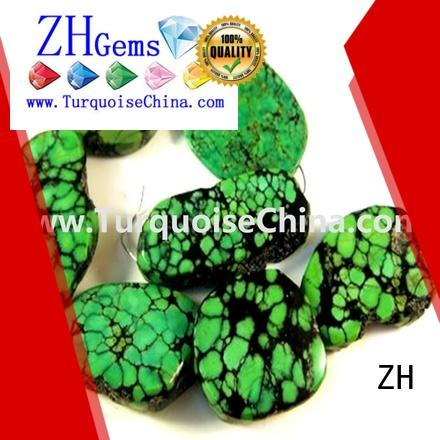ZH real turquoise beads supplier for ring