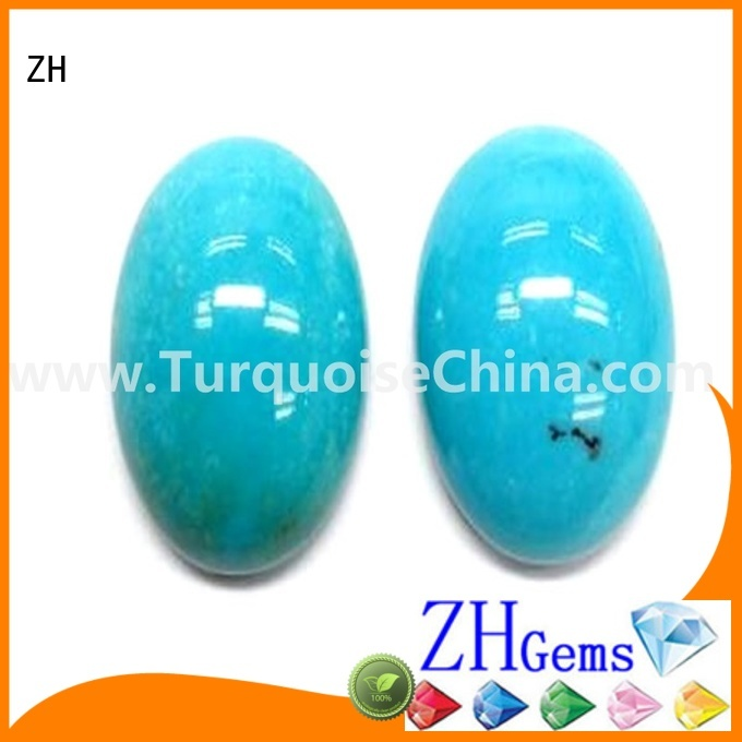 ZH top rated natural sleeping beauty turquoise cabochons supplier for jewelry making