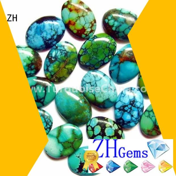 ZH Gems turquoise cabachon business for jewelry