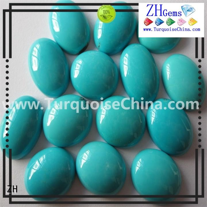 ZH natural sleeping beauty turquoise business for earings