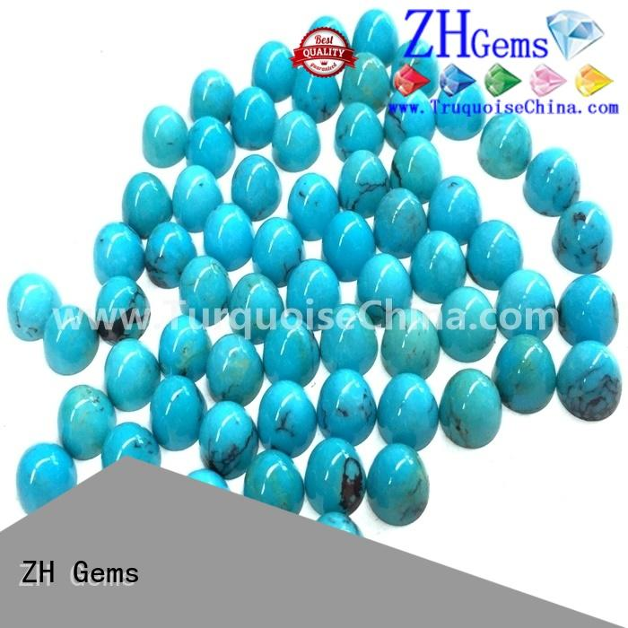 ZH Gems great genuine turquoise cabochon supply for jewellery making