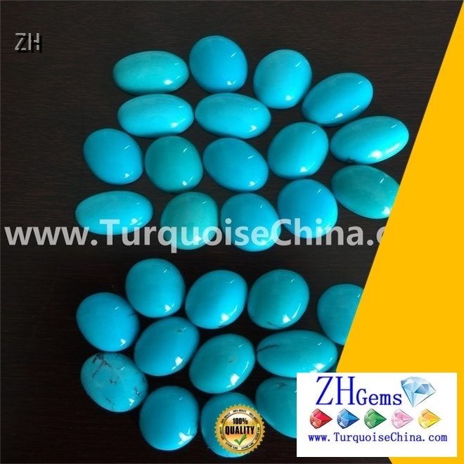 top quality natural sleeping beauty turquoise cabochons supply for bracelet