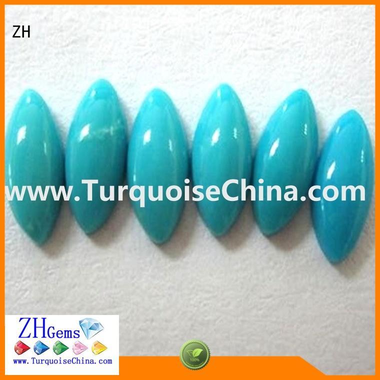 ZH natural turquoise cabochon supplier for bracelet