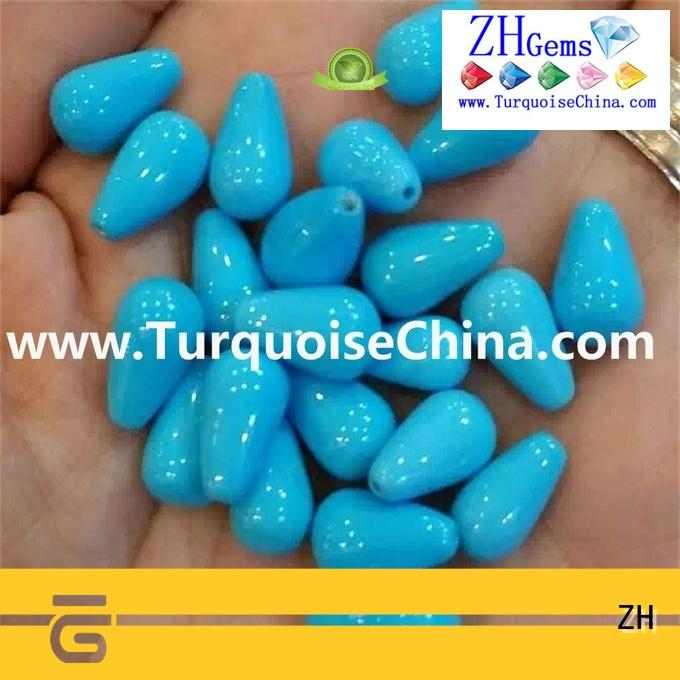ZH great turquoise beads supplier for ring