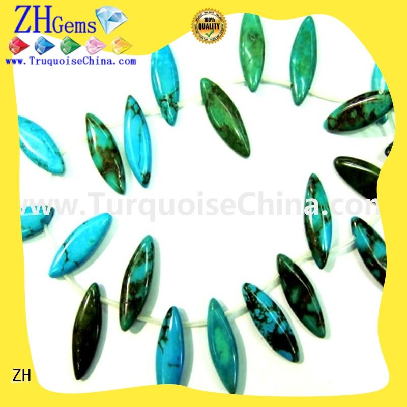 ZH turquoise beads supply for bracelet