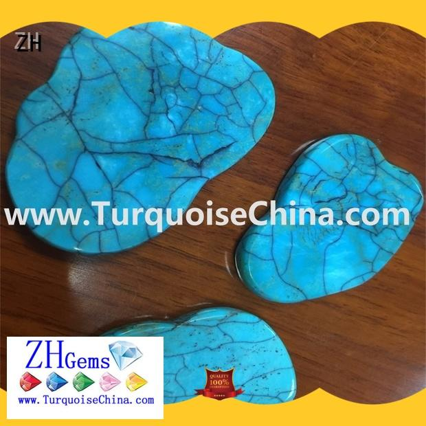 ZH top rated real turquoise beads supplier for bracelet