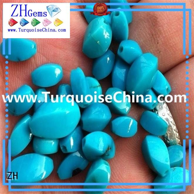 ZH real turquoise beads supplier for jewellery making