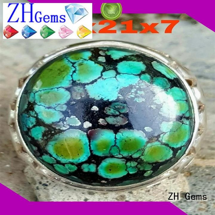 ZH Gems turquoise rings supply for jewelry industry