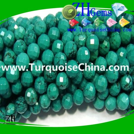 ZH turquoise faceted beads reliable supplier for necklace