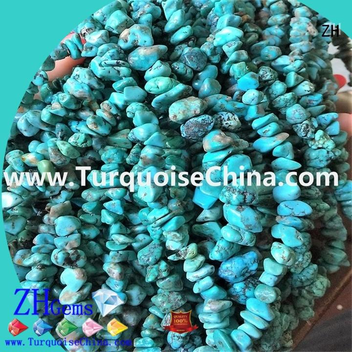 ZH turquoise chips bulk reliable supplier for necklace