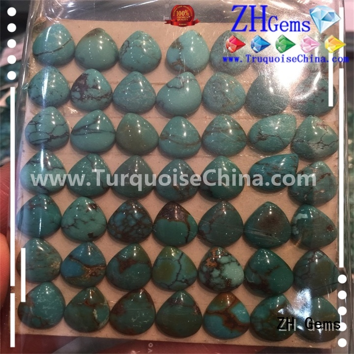 ZH Gems excellent loose turquoise stones wholesale supply for bracelet