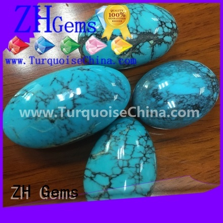 good quality oval turquoise stone supply for jewellery making