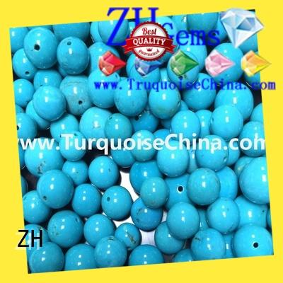 ZH turquoise gemstone beads reliable supplier for jewelry