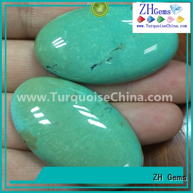 ZH Gems good quality genuine turquoise cabochon professional supplier for ring