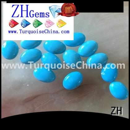 ZH good quality turquoise cabochon professional supplier for jewellery making