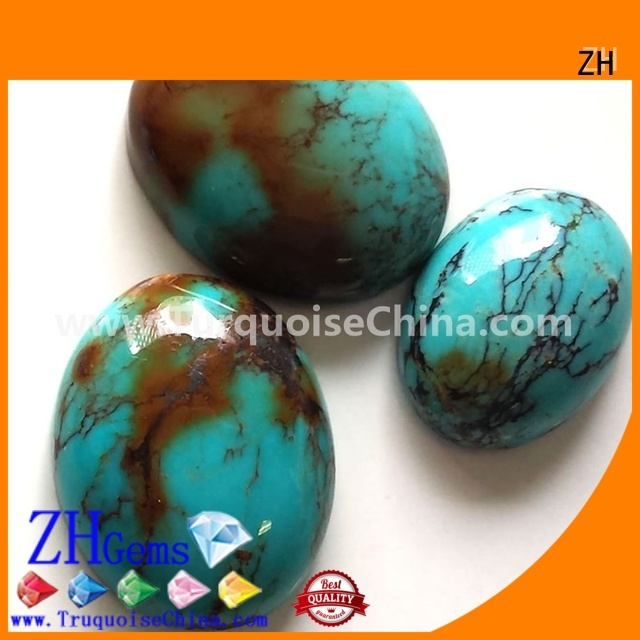 ZH good quality loose turquoise stones wholesale supplier for jewellery making