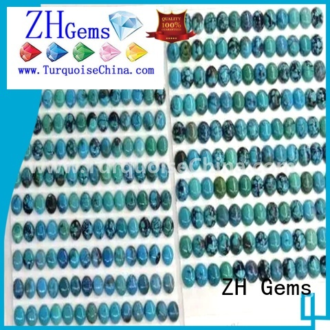 ZH Gems loose turquoise stones wholesale supplier for jewellery making