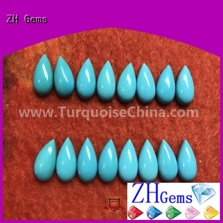 ZH Gems pear shaped gemstones supplier for bracelet