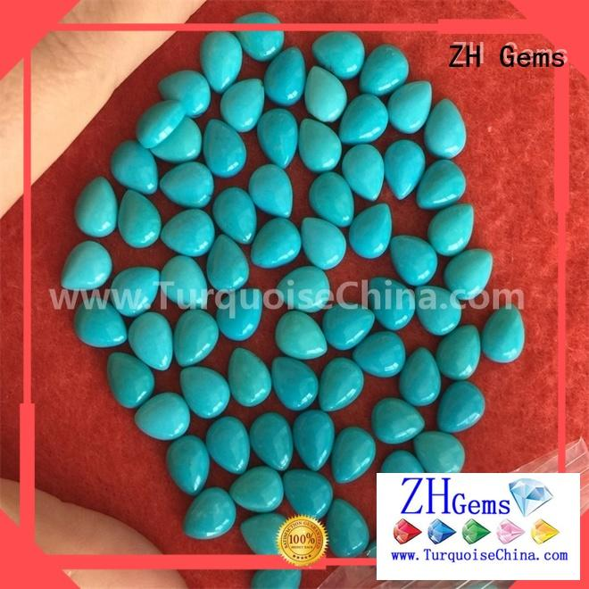 ZH Gems top quality turquoise cabochon supply for jewelry