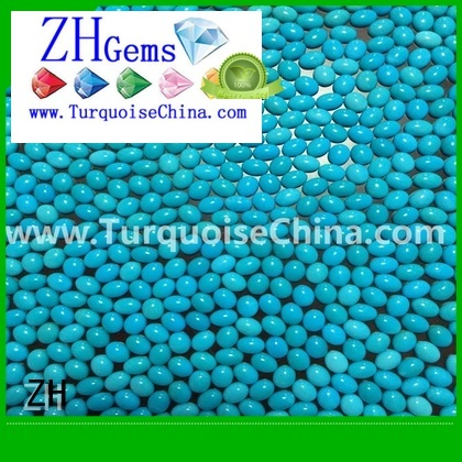 ZH sleeping beauty turquoise cabochon professional supplier for earings