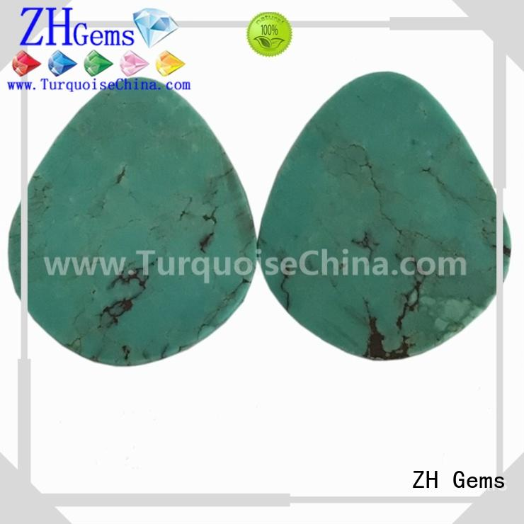 ZH Gems perfect pear shaped gem supply for necklace