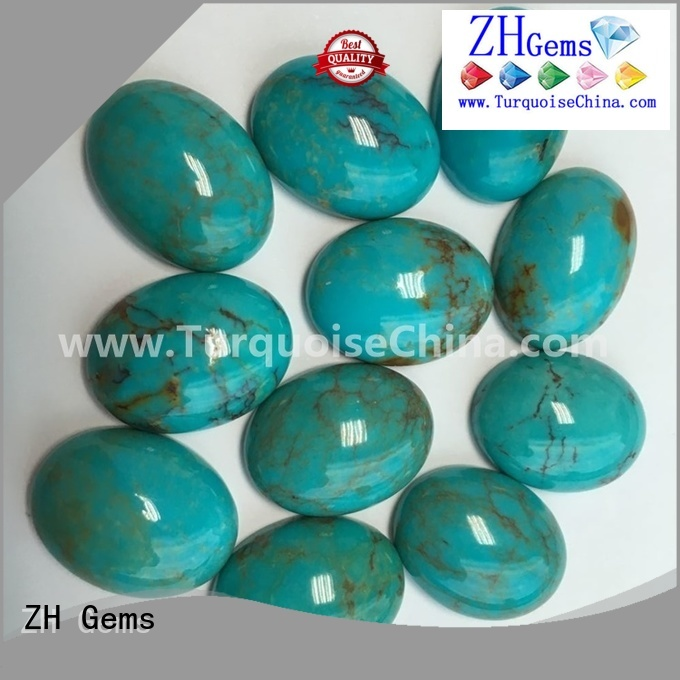 ZH Gems turquoise cabs wholesale business for bracelet