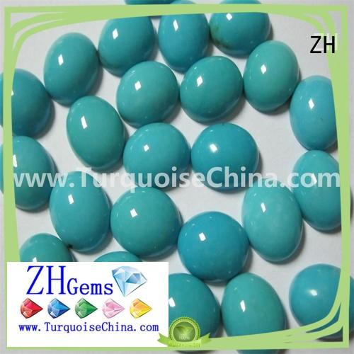ZH top rated genuine sleeping beauty turquoise business for jewelry making