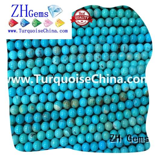 ZH Gems great turquoise round beads professional supplier for jewellery making