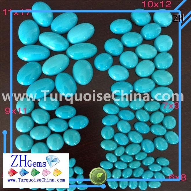 ZH wholesale turquoise cabochons supplier for jewelry making
