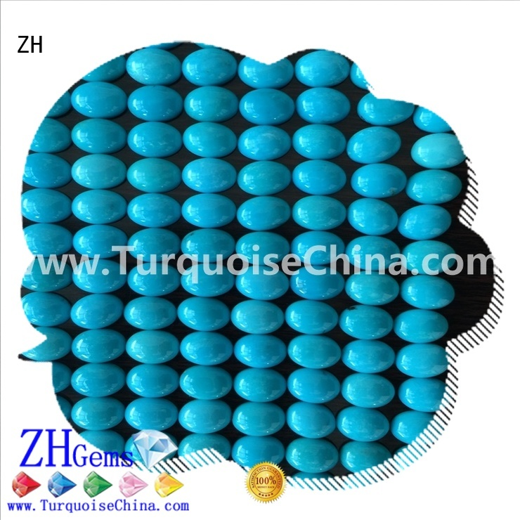 ZH turquoise cabochon business for jewellery making