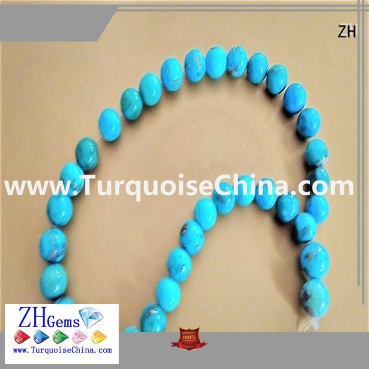 ZH excellent natural turquoise beads supplier for bracelet