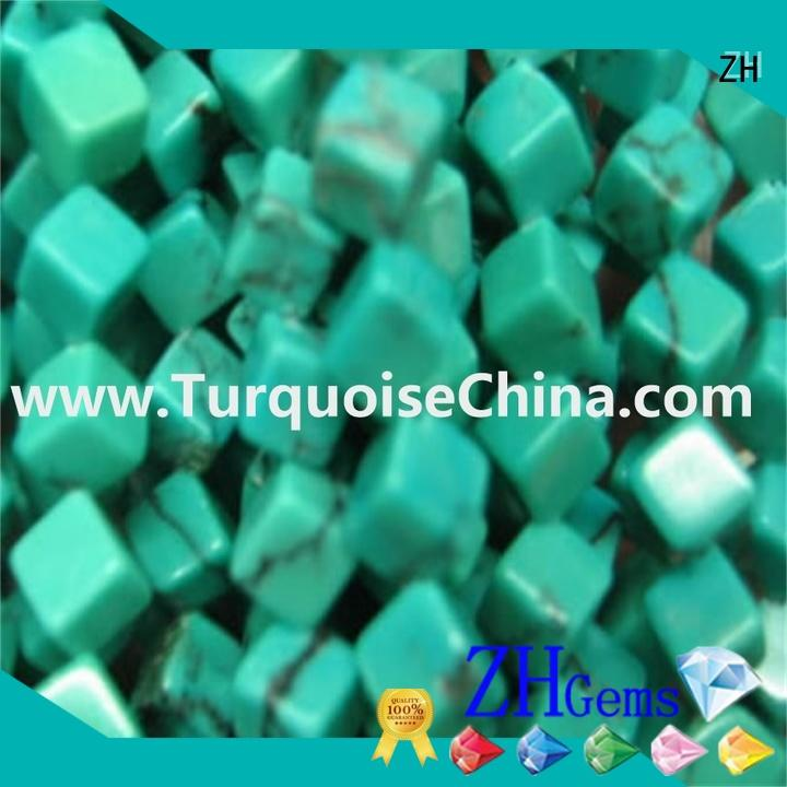 ZH square turquoise beads supplier for jewelry