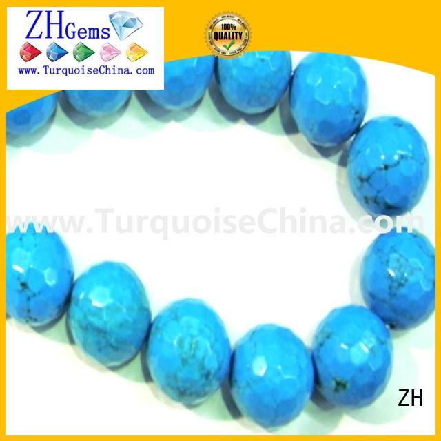 ZH best faceted turquoise professional supplier for bracelet
