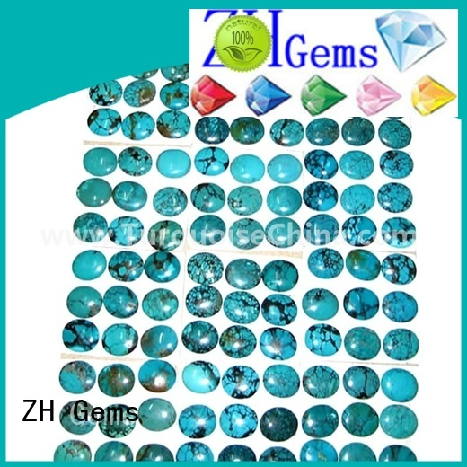ZH Gems great natural turquoise cabochon supply for necklace