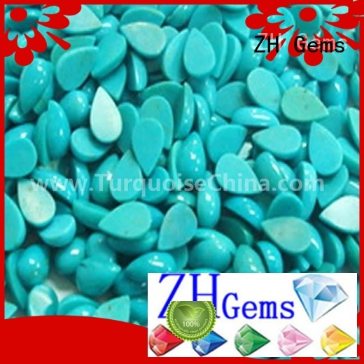 ZH Gems turquoise cabochon reliable supplier for necklace