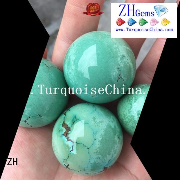 ZH perfect turquoise bead business for necklace