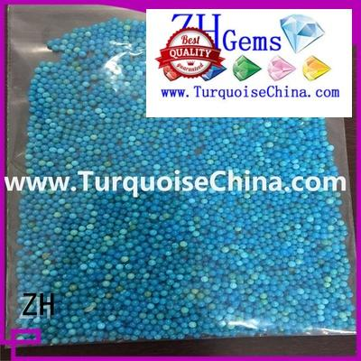 ZH perfect round turquoise supply for jewellery making