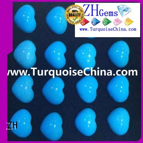 ZH best turquoise heart beads reliable supplier for earings